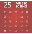 25 line icon set vector image