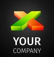 abstract logo x vector image