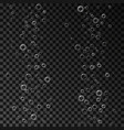 Air bubbles set isolated