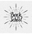 Back to School Handwritten Lettering vector image vector image