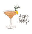 best cosmopolitan cocktail food sketch vector image