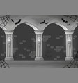 black and white haunted interior vector image vector image