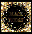 black friday sale after thanksgiving golden vector image vector image