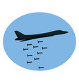 bombing plane on white background vector image vector image