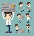 Businessman credit card vector image vector image