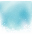 christmas blue snow winter template vector image vector image