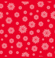 christmas seamless pattern with white snowflakes vector image