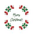 christmas wreath scandinavian flat vector image vector image