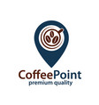 coffee point icon vector image vector image