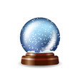 colored snow globe composition vector image
