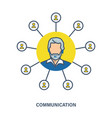 communication as element of interaction contact vector image
