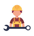 construction builder with wrench vector image vector image