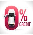 credit car at zero percent vector image vector image