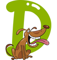 D for dog vector image vector image