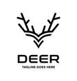 deer head horn vector image vector image