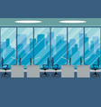 design of modern office design workplace with vector image vector image