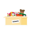 donation box for refugees flat design vector image vector image
