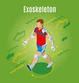external skeleton suit background vector image vector image