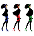 fashionable women vector image