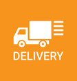 fast delivery service truck silhouette logo vector image