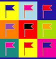 flag sign pop-art style vector image