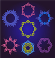 Floral Frames pattern round ornamental vector image
