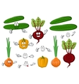 Fresh and tasty farm vegetables vector image vector image