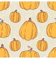 Hand drawn halloween pumpkins seamless pattern vector image vector image