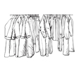 Hand drawn wardrobe sketch Coat and other winter vector image vector image