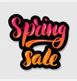 handwritten lettering typography spring sale vector image vector image
