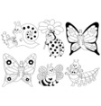 Insects Set vector image vector image