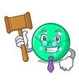 judge circle mascot cartoon style vector image
