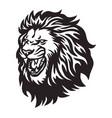 lion head roaring logo vector image vector image
