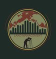 logo land management vector image vector image