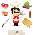 male chef set vector image vector image