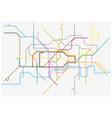 map of london undergoundovergrounddlr vector image
