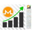 monero growth graph flat icon with bonus vector image vector image
