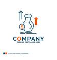 money bag dollar growth stock logo design blue vector image vector image