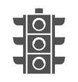 monochrome traffic light icon flat vector image