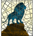 Mosaic lion vector image vector image