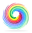 multi-colored swirly circle icon vector image