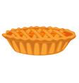 pumpkin open top pie isolated dish vegetable vector image