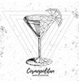 realistic and polygonal cocktail cosmopolitan vector image vector image