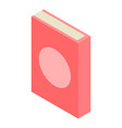 red book icon isometric style vector image