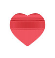 red heart from knitted pattern vector image vector image