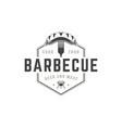 Restaurant logo template object for