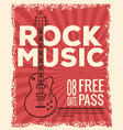 rock musica festival flyer vector image