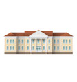 school building exterior vector image