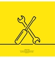 Screwdriver and spanner vector image