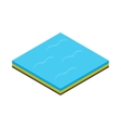 Sea icon isometric 3d style vector image vector image